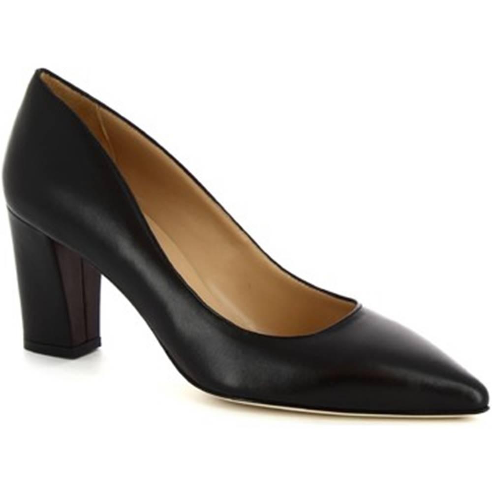 Leonardo Shoes Lodičky Leonardo Shoes  CINDY NAPPA NERO