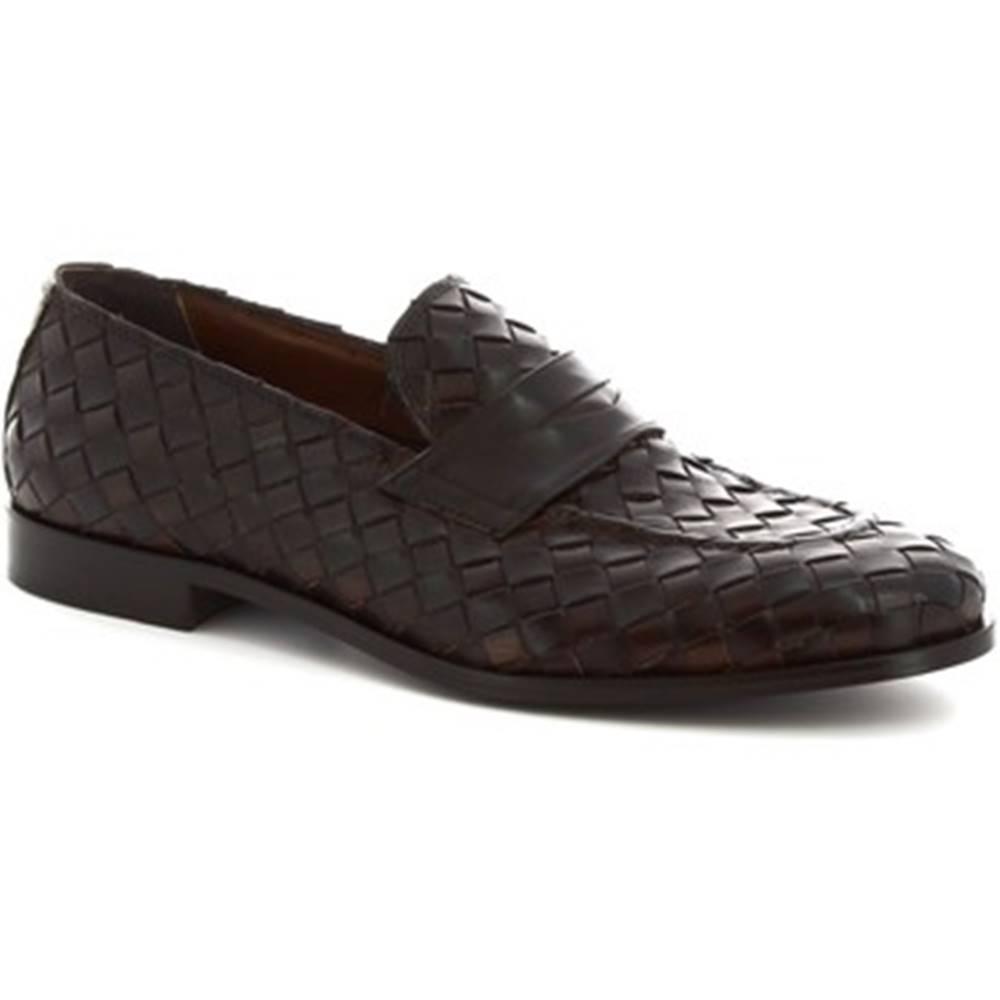 Leonardo Shoes Mokasíny Leonardo Shoes  1012__3 PE VITELLO MORO