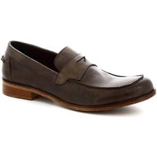 Mokasíny Leonardo Shoes  2580/1 BUFALO VULCAN ROCK