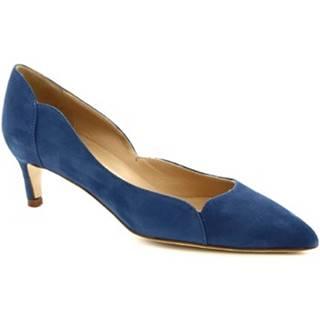 Lodičky Leonardo Shoes  MELEINA CAMOSCIO AVIO