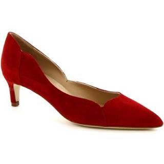 Lodičky Leonardo Shoes  MELEINA CAMOSCIO ROSSO