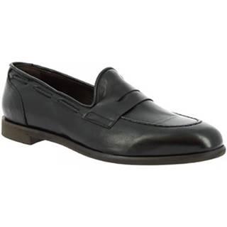 Mokasíny Leonardo Shoes  809/2 PAPUA NERO