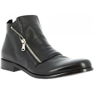 Polokozačky Leonardo Shoes  2580/120 PAPUA NERO
