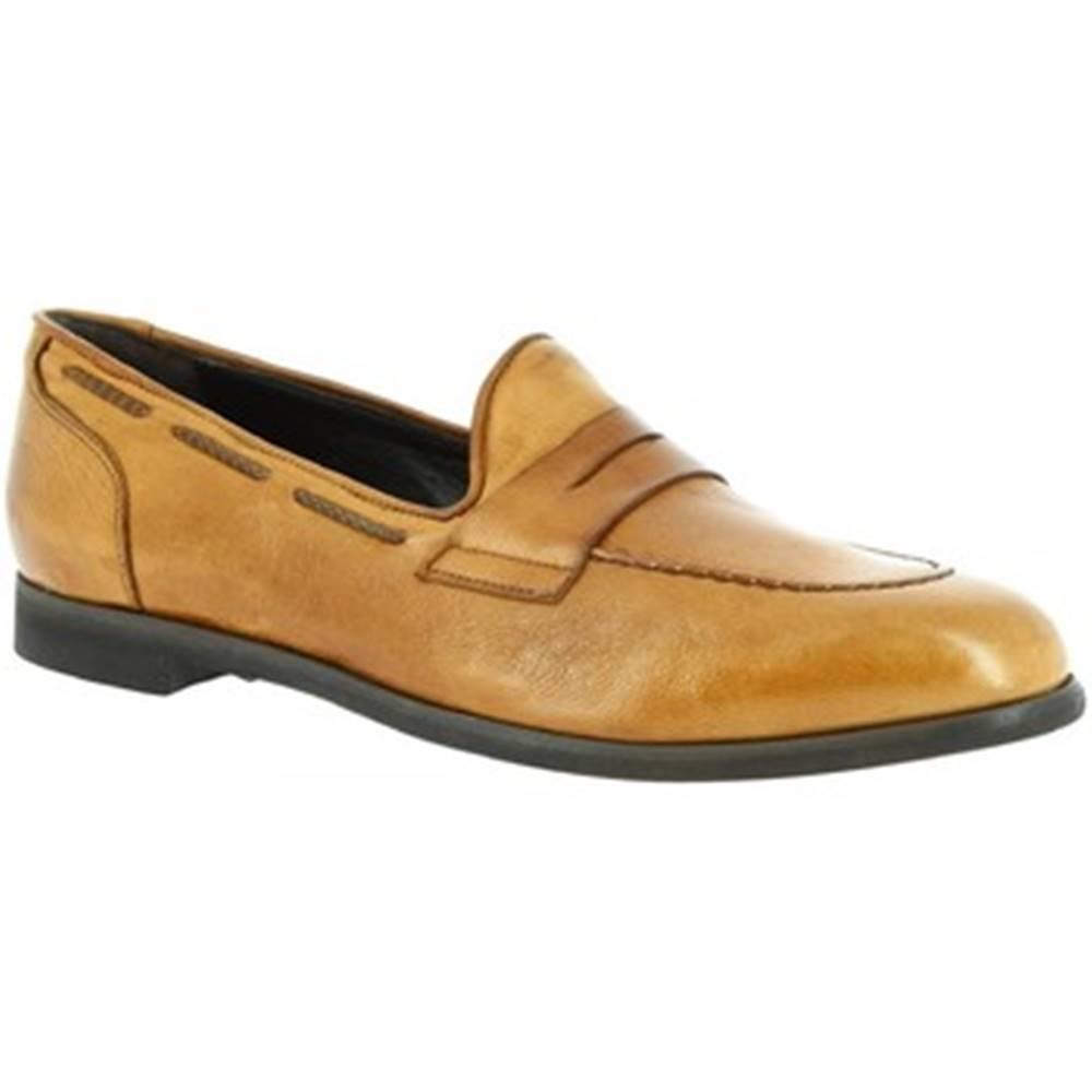 Leonardo Shoes Mokasíny Leonardo Shoes  809/2 PAPUA BEIGE CUOIO