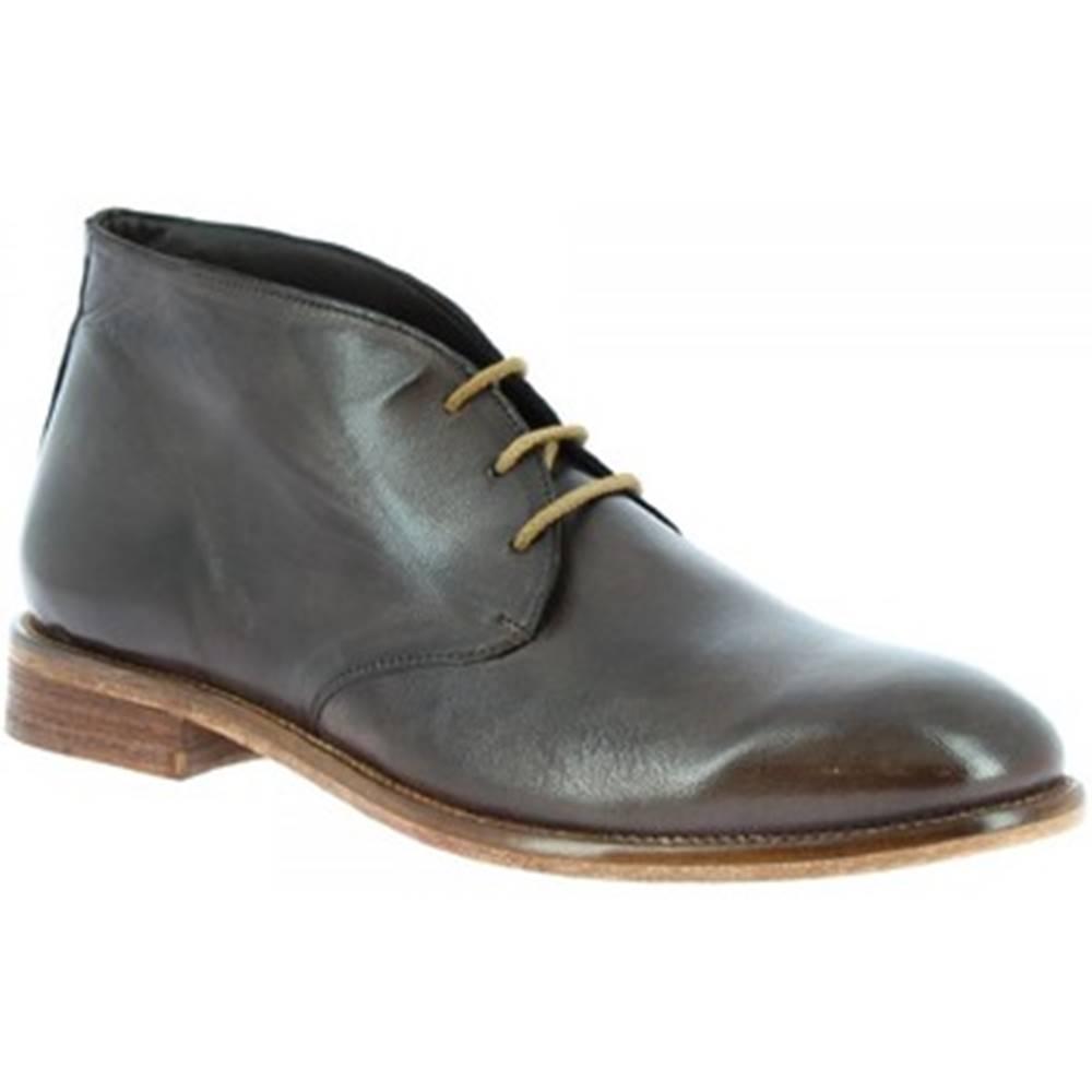 Leonardo Shoes Polokozačky Leonardo Shoes  34302/110 PAPUA BRONZATO