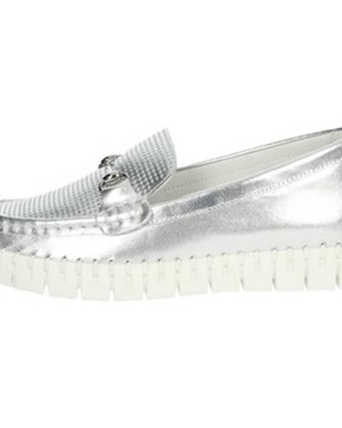 Strieborné topánky Nina Capri