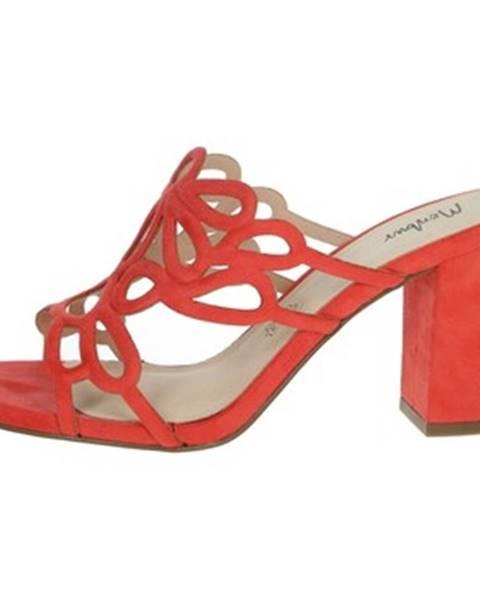 Červené topánky Menbur