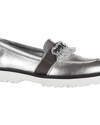 Strieborné topánky Hogan