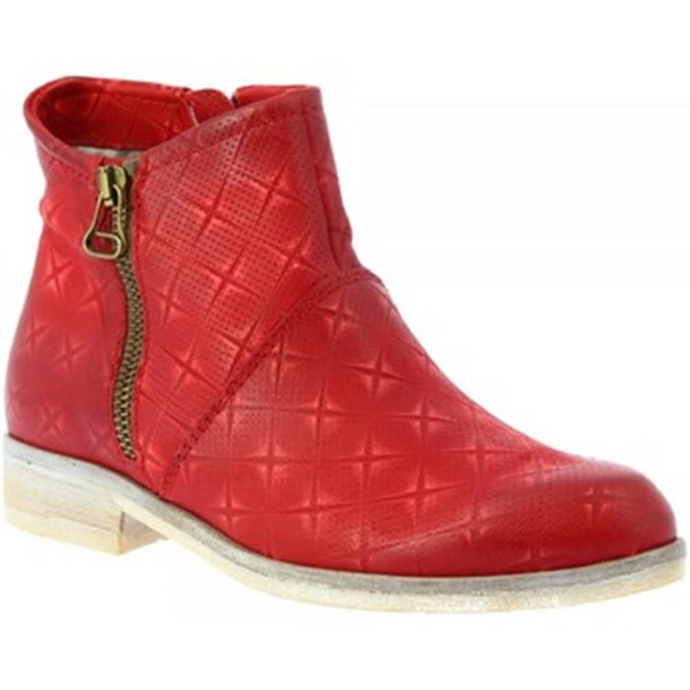 Leonardo Shoes Čižmičky Leonardo Shoes  767215 ROSSO
