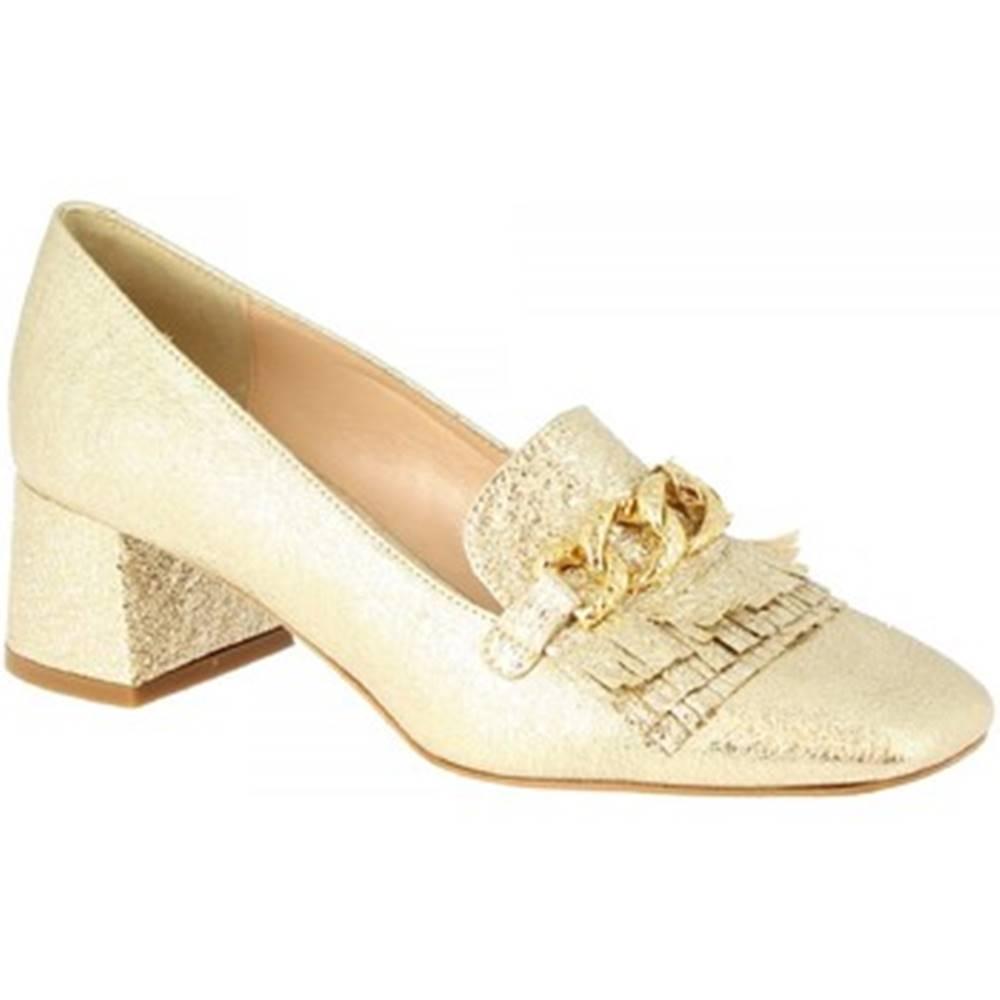 Leonardo Shoes Lodičky Leonardo Shoes  4502 FERRERO PLATINO
