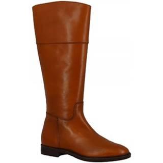 Čižmy do mesta Leonardo Shoes  P135/5 STIVALE FEELING CUOIO