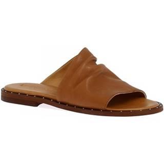 Šľapky Leonardo Shoes  372B VITELLO CUOIO