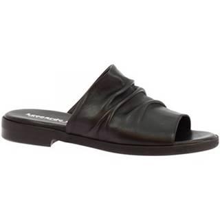 Šľapky Leonardo Shoes  LISA 03 NAPPA NERO