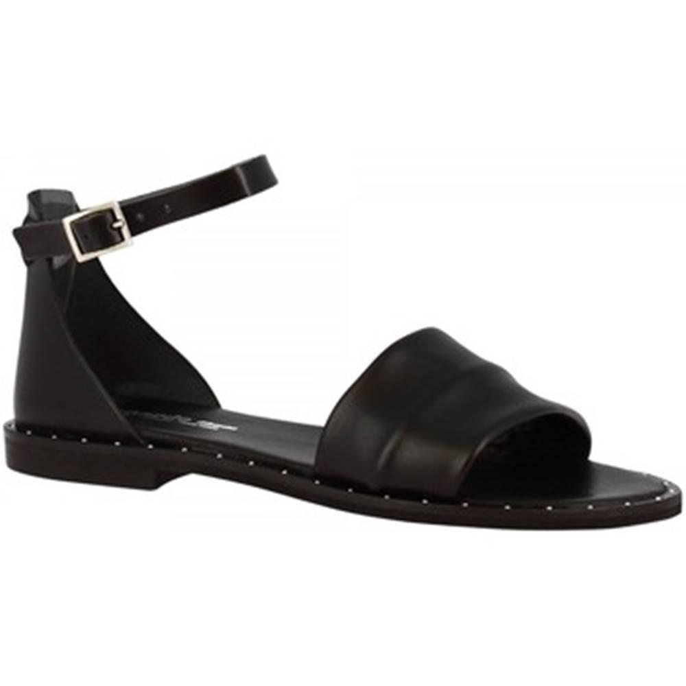 Leonardo Shoes Sandále Leonardo Shoes  301B VITELLO NERO