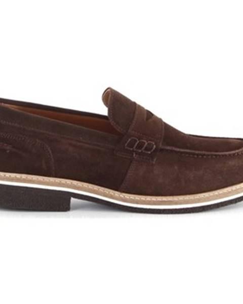 Hnedé topánky Paolo Da Ponte