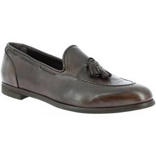 Mokasíny Leonardo Shoes  809/1 PAPUA BRONZATO