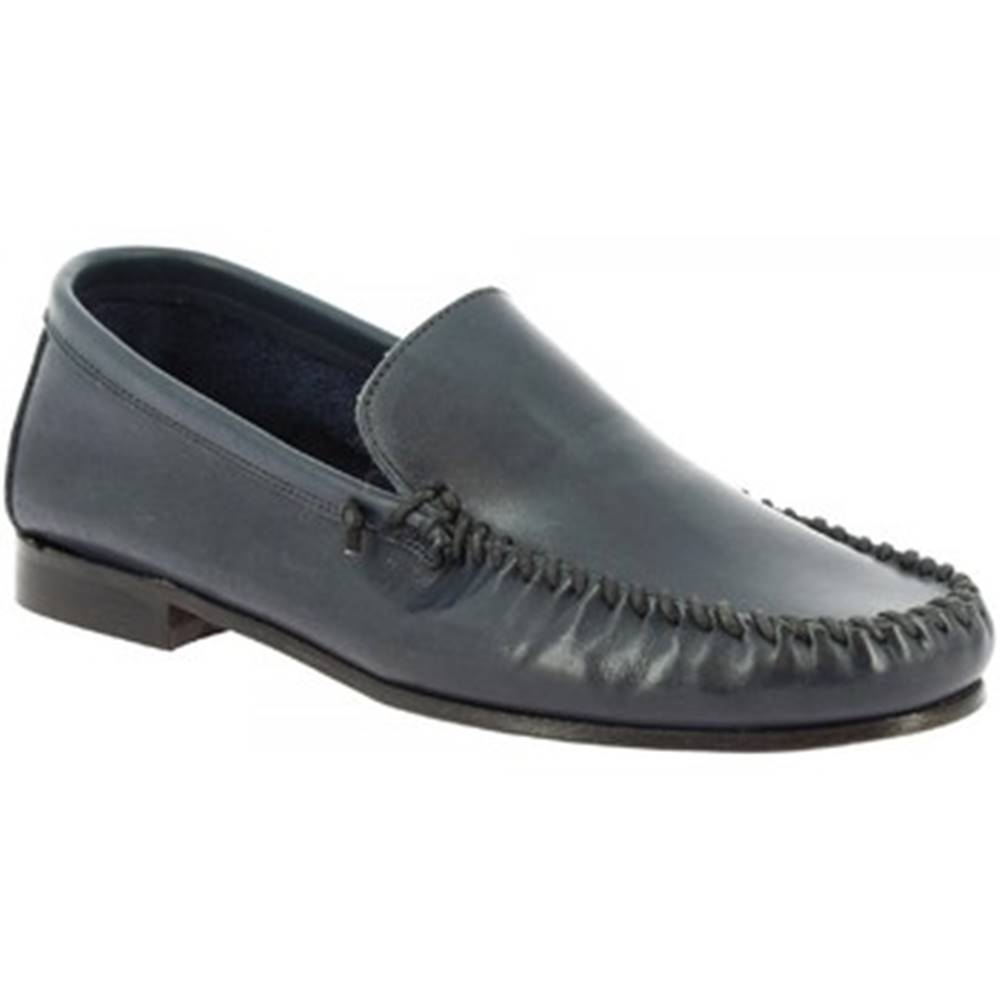 Leonardo Shoes Mokasíny Leonardo Shoes  1301 VITELLO BLEU