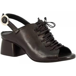Sandále Leonardo Shoes  4666 ROK NERO
