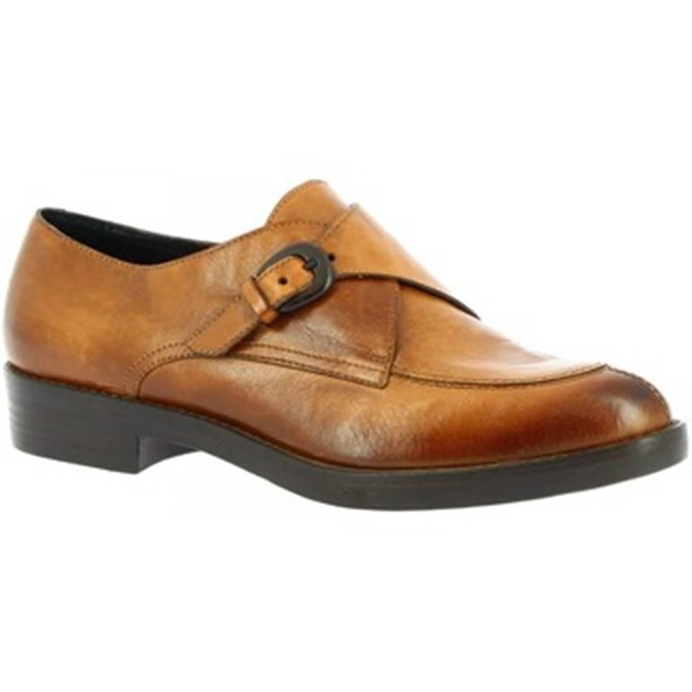 Leonardo Shoes Mokasíny Leonardo Shoes  P017 ANTICO CUOIO