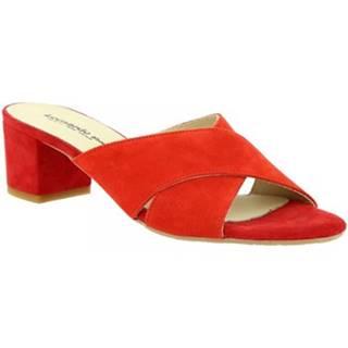 Šľapky Leonardo Shoes  C 557 CAM. ROSSO