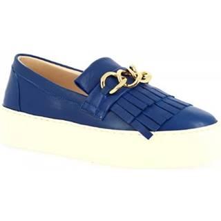 Slip-on Leonardo Shoes  G03 NAPPA COBALTO