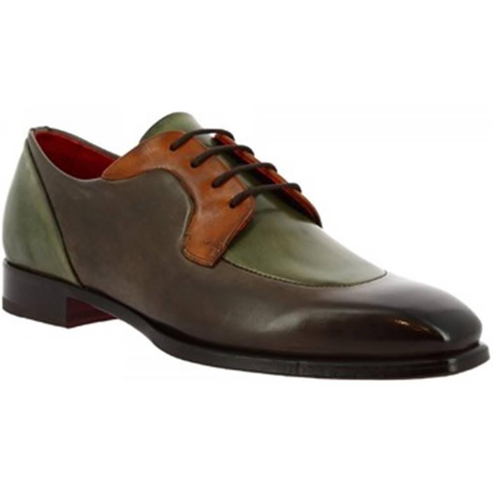 Leonardo Shoes Derbie Leonardo Shoes  9563E20 TOM MONTECARLO DELAVE TAUBE