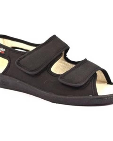 Čierne papuče Gaviga