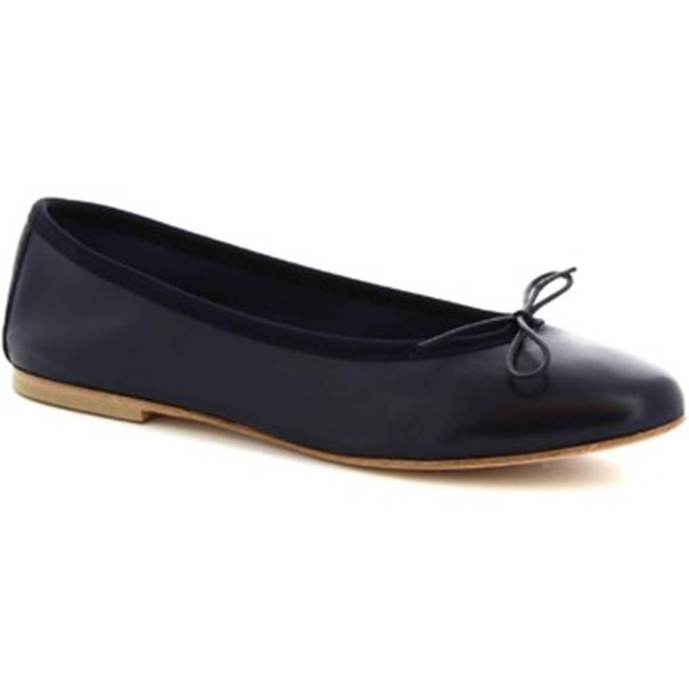 Leonardo Shoes Balerínky/Babies Leonardo Shoes  6087 CUOIO NAPPA BLU