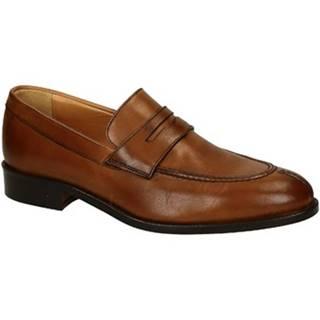 Mokasíny Leonardo Shoes  06651 FORMA 40 NAIROBI CUOIO