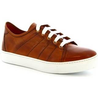 Nízke tenisky Leonardo Shoes  8701E19 1E19 VITELLO AV ARANCIO PARMA