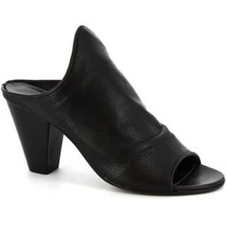Šľapky Leonardo Shoes  Z312/F AMERICA NERO
