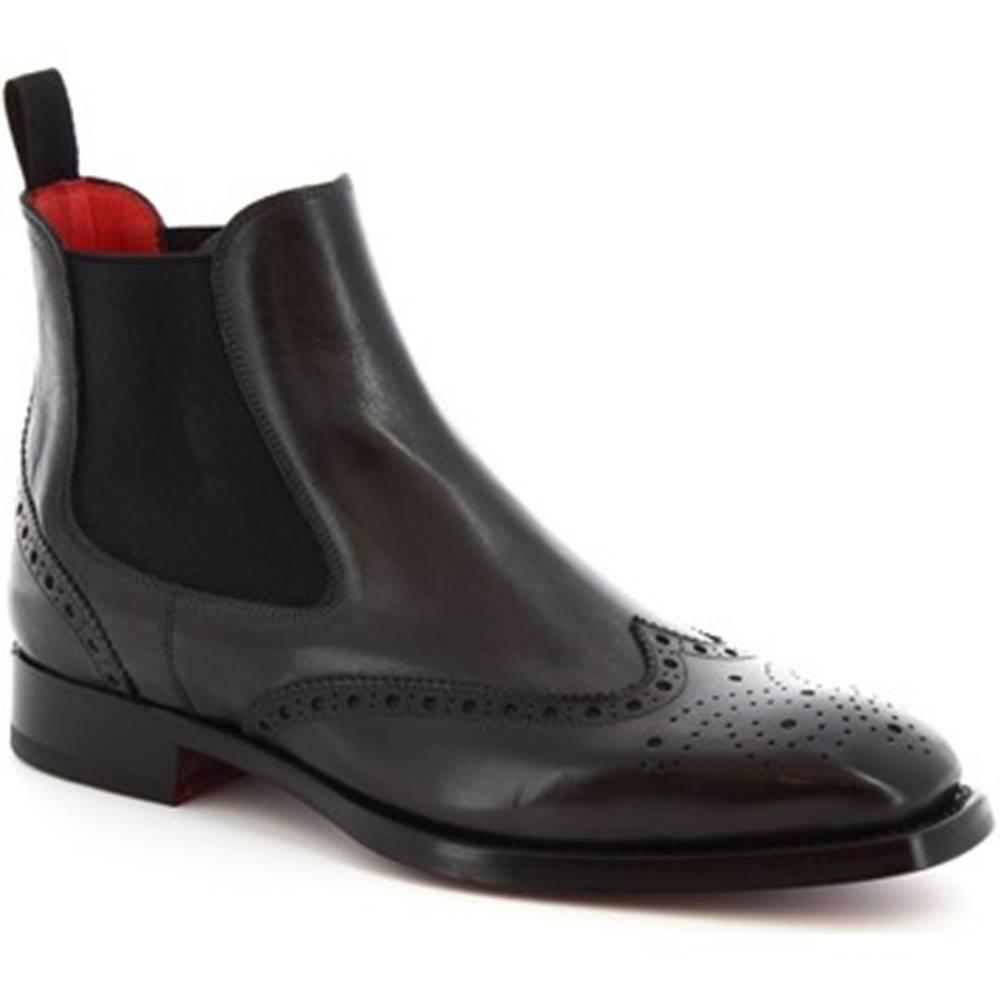 Leonardo Shoes Polokozačky Leonardo Shoes  9140/19 TOM VITELLO DELAVE GRIGIO