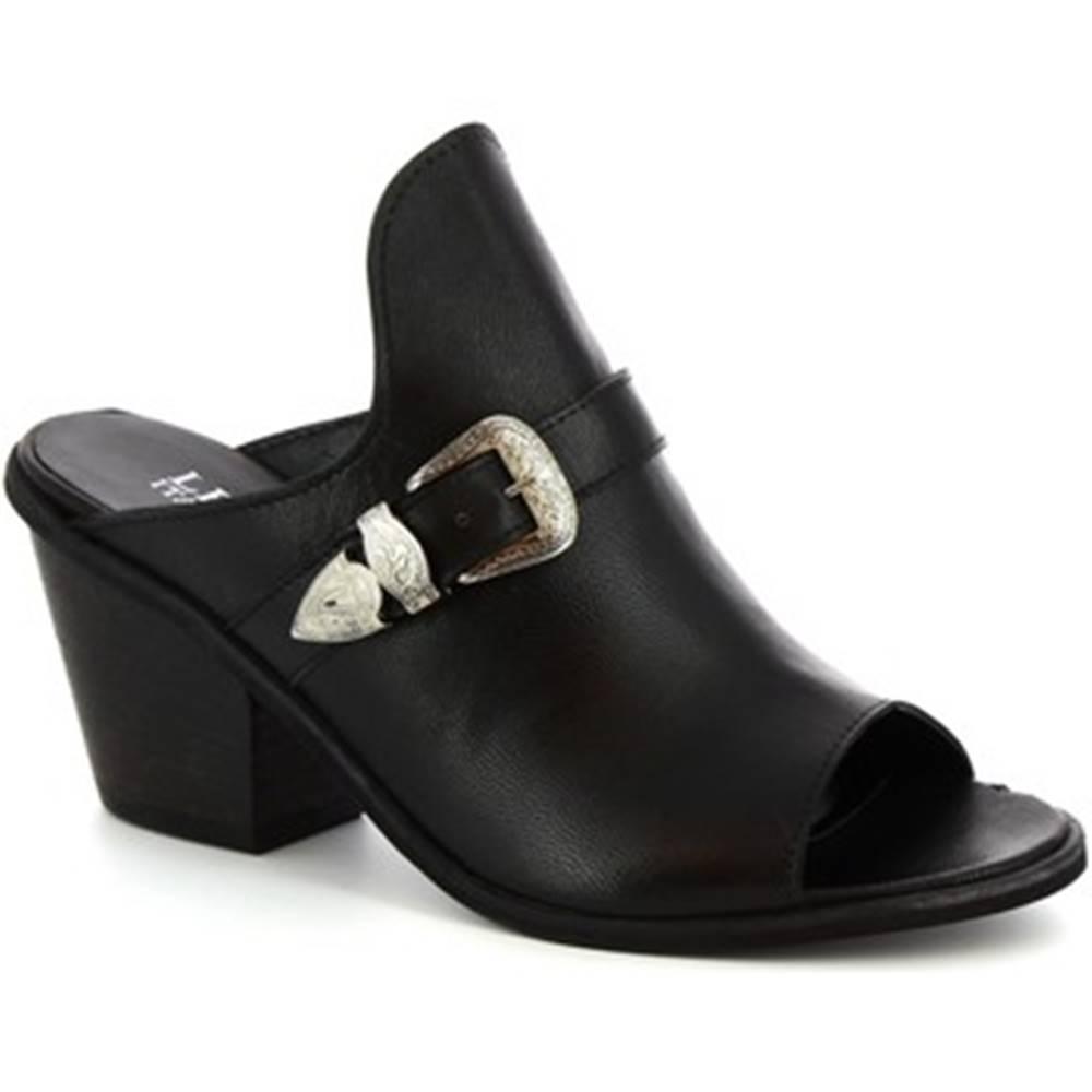 Leonardo Shoes Šľapky Leonardo Shoes  Z070 AMERICA NERO