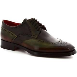 Derbie Leonardo Shoes  9121/19 VITELLO AV CIOCCOLATO