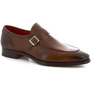 Mokasíny Leonardo Shoes  9053/19 TOM VITELLO DELAVé BRANDI