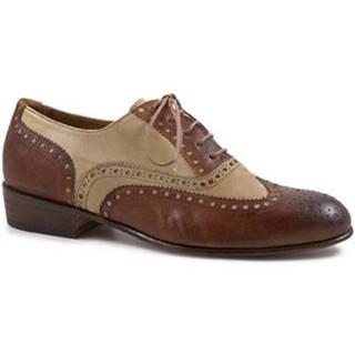 Derbie Leonardo Shoes  PINA 037 CUOIO/INCENSO