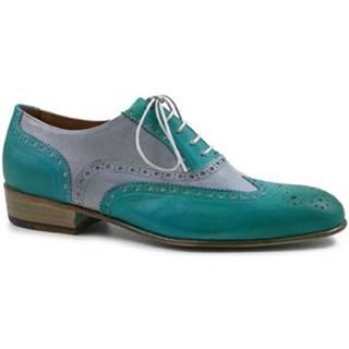 Richelieu Leonardo Shoes  PINA 037 ACQUA/ARGENTO