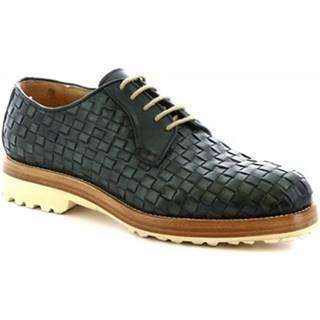 Derbie Leonardo Shoes  1010_1 PE VITELLO VERD
