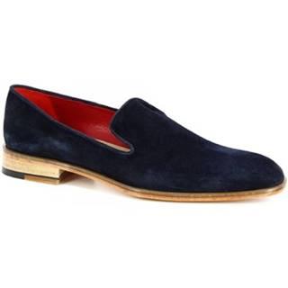 Mokasíny Leonardo Shoes  312 V. BLU