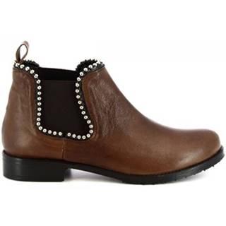 Polokozačky Leonardo Shoes  1796 T.MORO