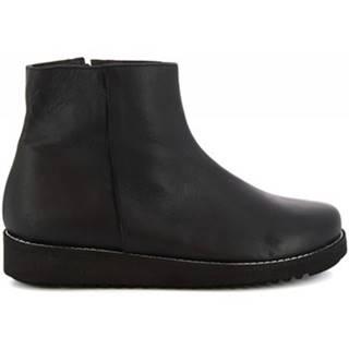 Polokozačky Leonardo Shoes  4500 NERO