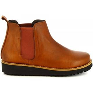 Polokozačky Leonardo Shoes  4526 CUOIO