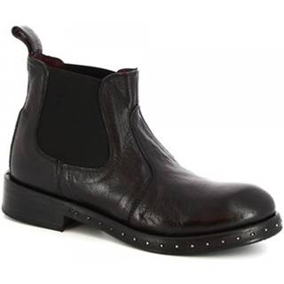 Polokozačky Leonardo Shoes  6918/1 MATRIX NERO