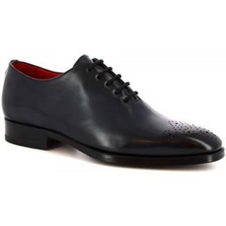 Richelieu Leonardo Shoes  8228I18 TOM VITELLO DELAVE BLU