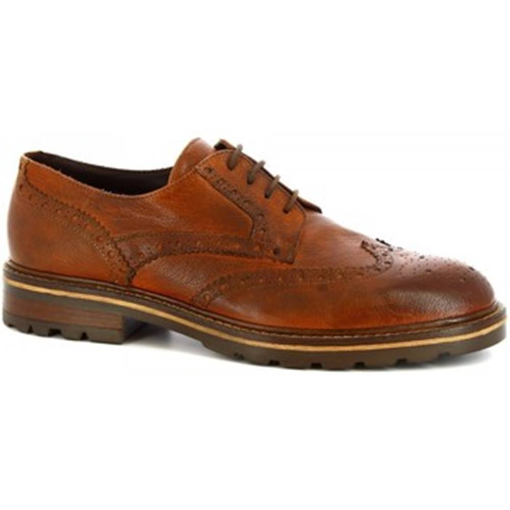 Leonardo Shoes Derbie Leonardo Shoes  M287-04 BUFALO BRANDY