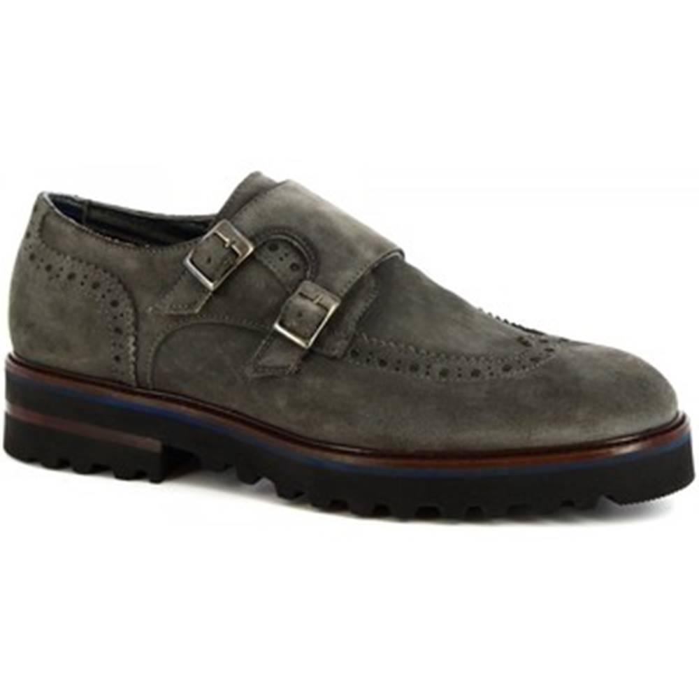 Leonardo Shoes Mokasíny Leonardo Shoes  M631-83 VELUR GRIGIO