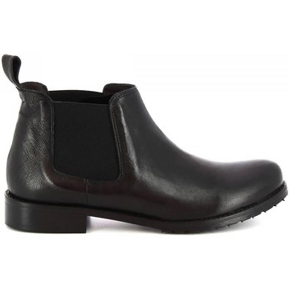 Leonardo Shoes Polokozačky Leonardo Shoes  1796 ROK NERO