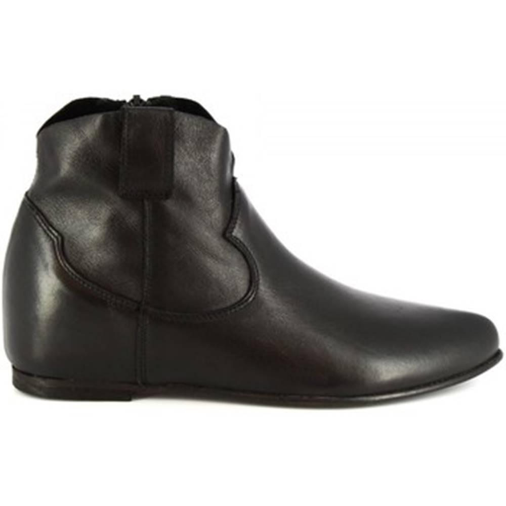 Leonardo Shoes Polokozačky Leonardo Shoes  RPT86 SAVAGE NERO