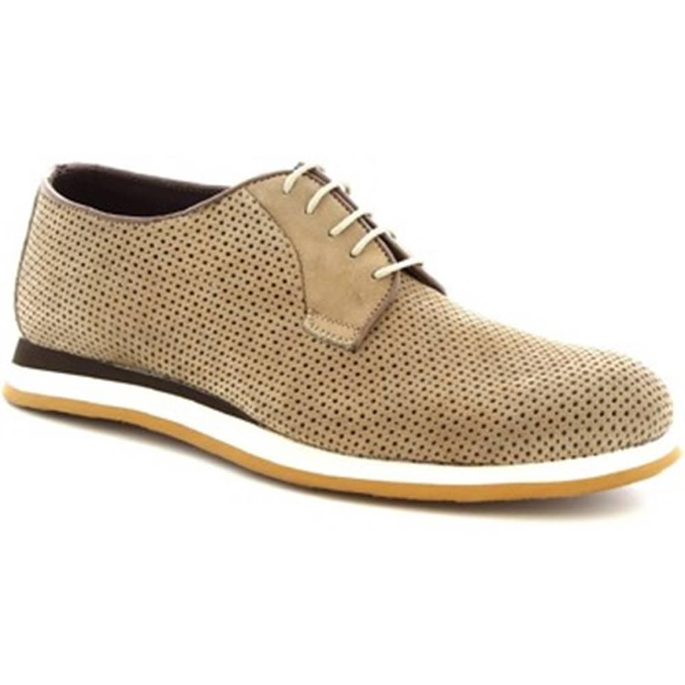 Leonardo Shoes Derbie Leonardo Shoes  398_3 PE NABUK TAUPE
