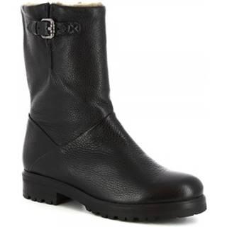 Čižmy do mesta Leonardo Shoes  30207 PRINCE NERO